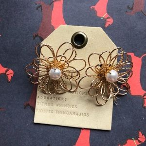NWT Anthropologie floral earrings